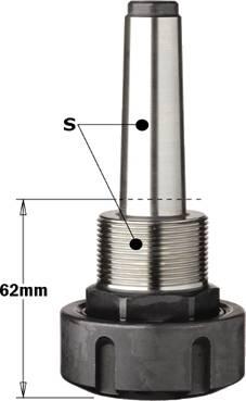 Porta herramientas para pinzas elásticas ER32 con conexión MK2 y MK3