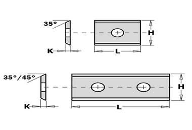 cuchillas de md integral reversibles,de carburo de tungsteno