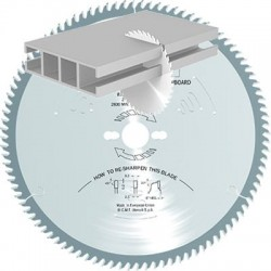 Sierra circular para cortar aluminio y laminados
