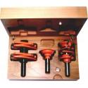 Conjunto de 10 fresas regulables para fabricar puertas de paso y de muebles en fresadora portatil y router