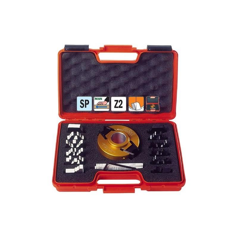 Maletin de cuchillas para madera perfiladas  con cabezal contracuchillas