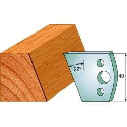 Cuchillas y contracuchillas perfiladas para madera 690.001