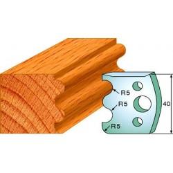 Cuchillas y contracuchillas perfiladas para madera 690.006