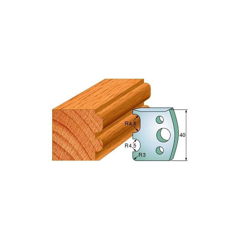 Cuchillas y contracuchillas perfiladas para madera 690.007