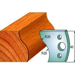 Cuchillas y contracuchillas perfiladas para madera 690.009