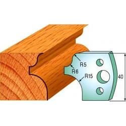 Cuchillas y contracuchillas perfiladas para madera 690.011