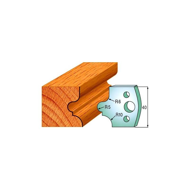 Cuchillas para realizar molduras clásicas en madera maciza