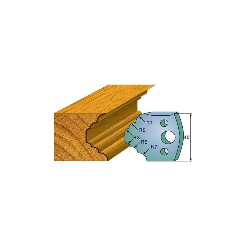 Cuchillas y contracuchillas perfiladas para realizar cornisas de madera
