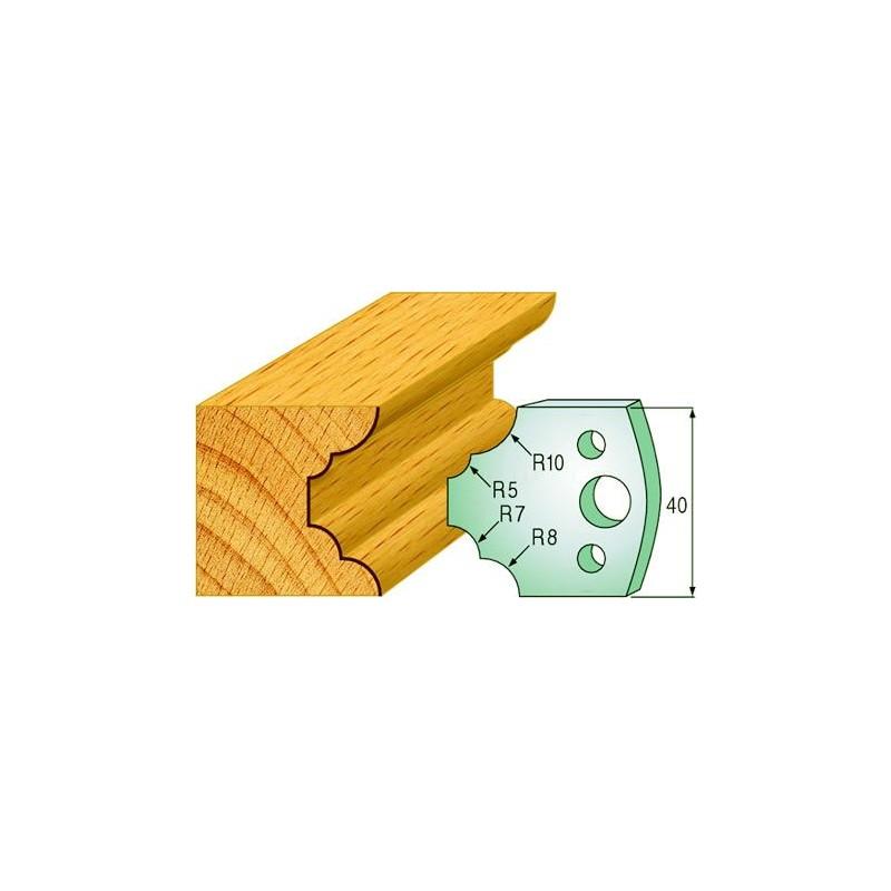 Cuchillas para fabricar cornisas de madera