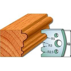 Cuchillas y contracuchillas perfiladas para madera 690.033