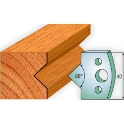 Cuchillas y contracuchillas perfiladas para madera 690.035