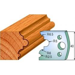 Cuchillas y contracuchillas perfiladas para madera 690.036
