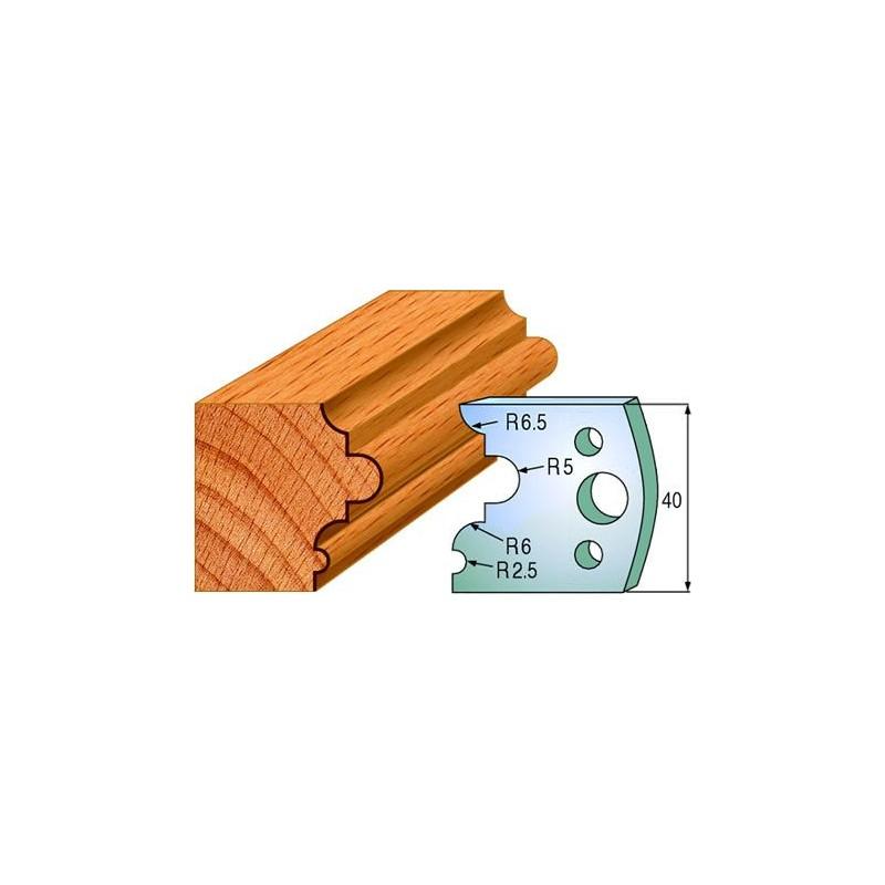 Cuchillas y contracuchillas perfiladas para junquillos de madera