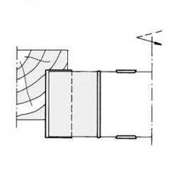 dibujo Portacuchillas para galces con cortes rectos (gran desahogo)