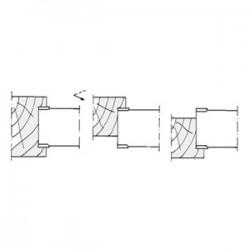 esquema Portacuchillas para galces con cortes rectos (gran desahogo)