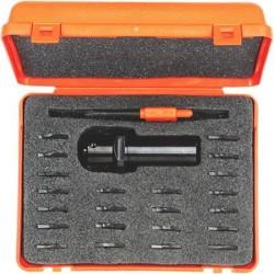 Maletin con 1 portacuchillas + 22 cuchillas para CNC