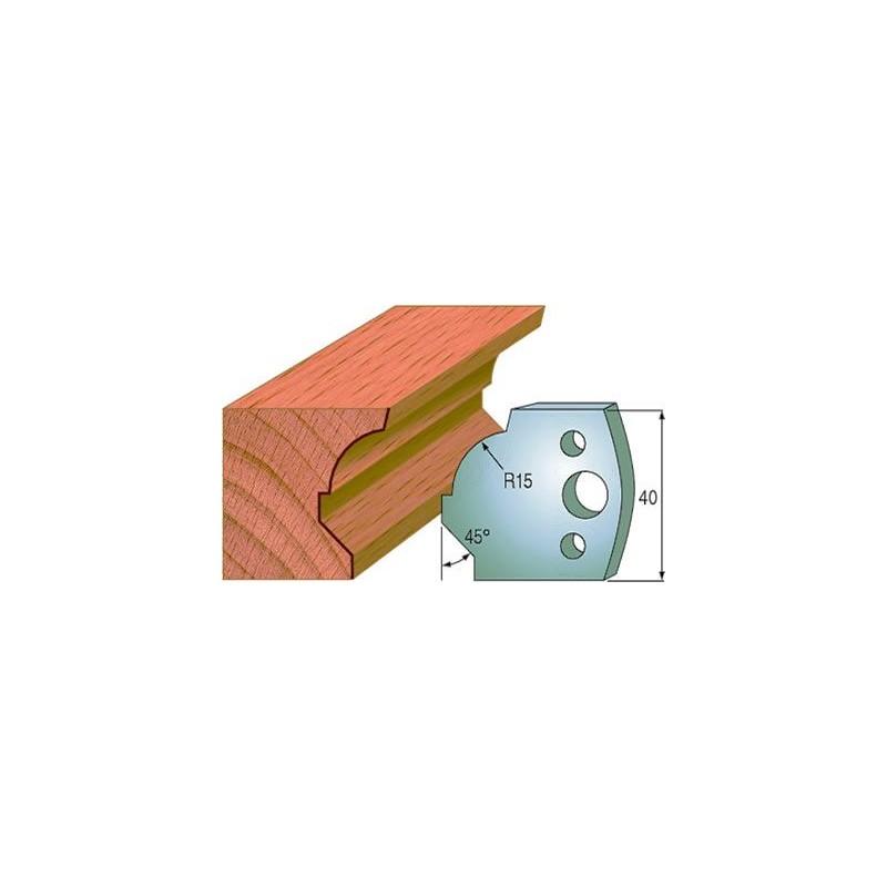 Cuchillas y contracuchillas para madera perfiladas 690.037