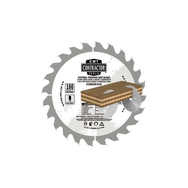 Caja de 10 sierras circulares de construcción para madera