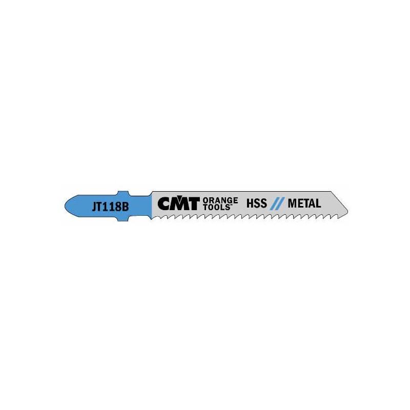 Hojas de sierrra corte recto para metal HSS espesores desde 2,5 a 6 mm