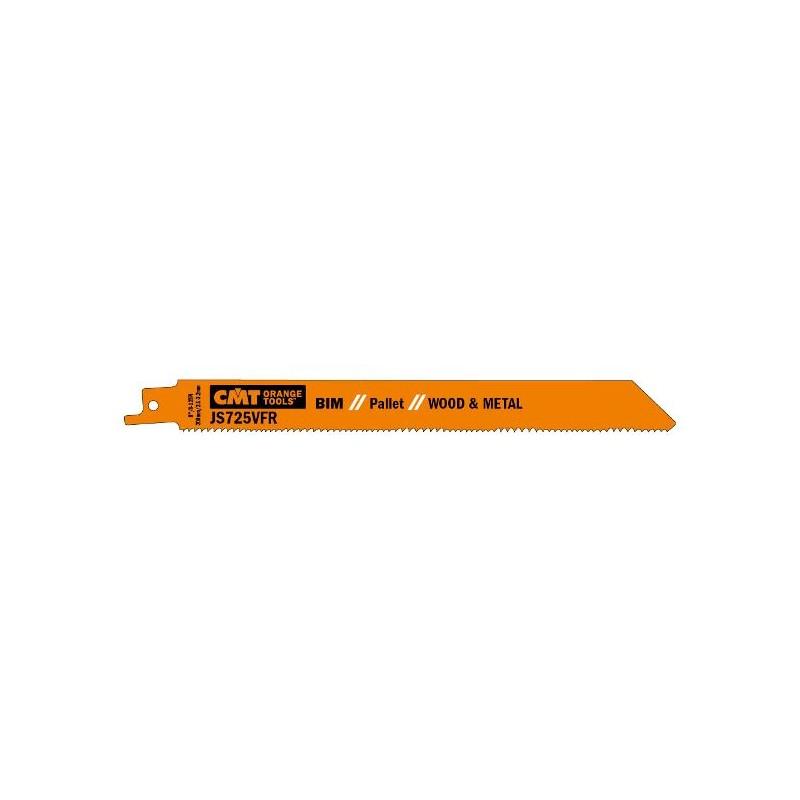 Hojas de sierra sables para reparaciones sobre palets hasta 150 mm.