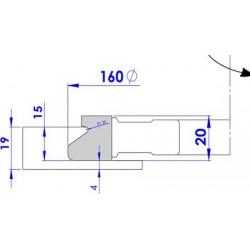 Fresa para fabricar uñeros para puertas correderas de madera
