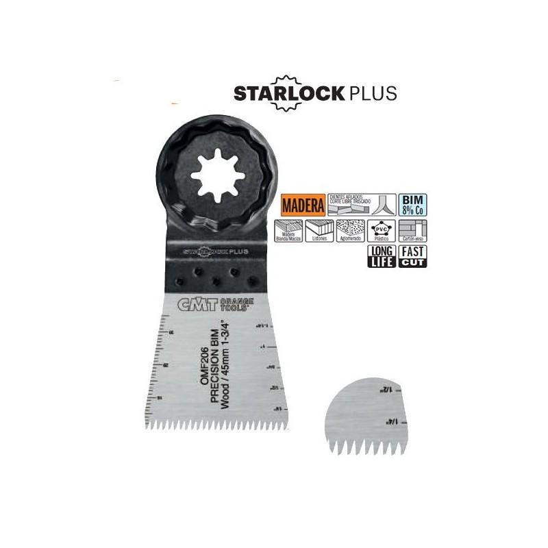 STARLOCK: Hojas sierra BIMETALICAS dentado Japones para madera de 45 mm
