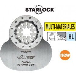 MULTI-MATERIALES hoja cuchilla ovalada materiales blandos de 70 mm