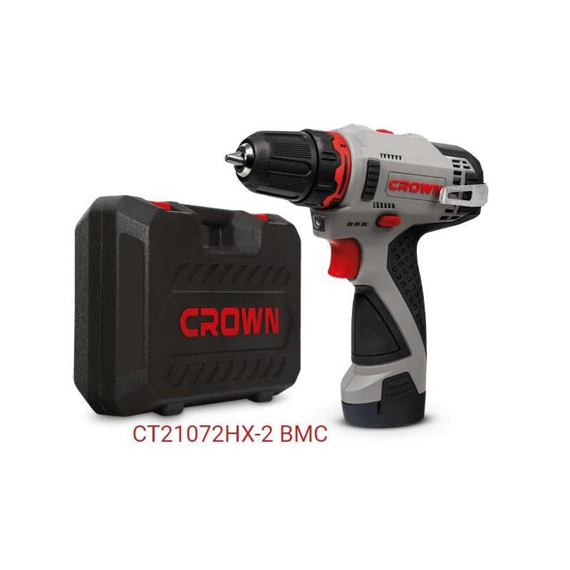 Taladro atornillador bateria ligero Crown CT20172HX-2 BMC