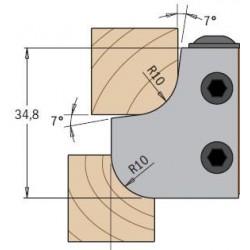 Cuchillas madera radio concavo y convexo