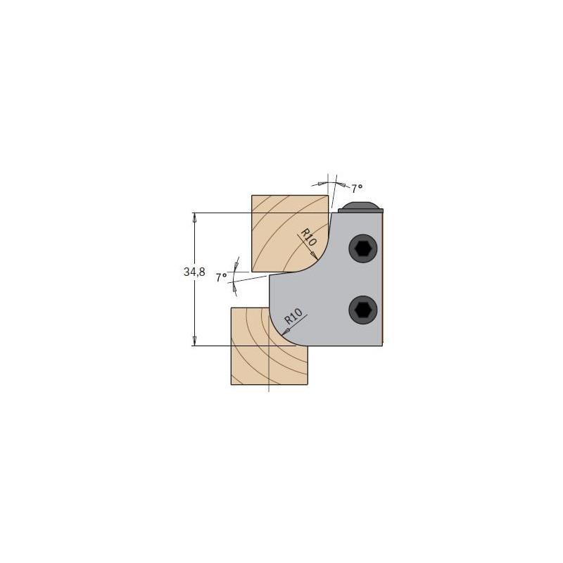 Cuchillas madera multiradio concavo y convexo