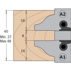 Cuchillas para puertas de muebles e interior