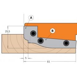 Cuchillas madera para plafones