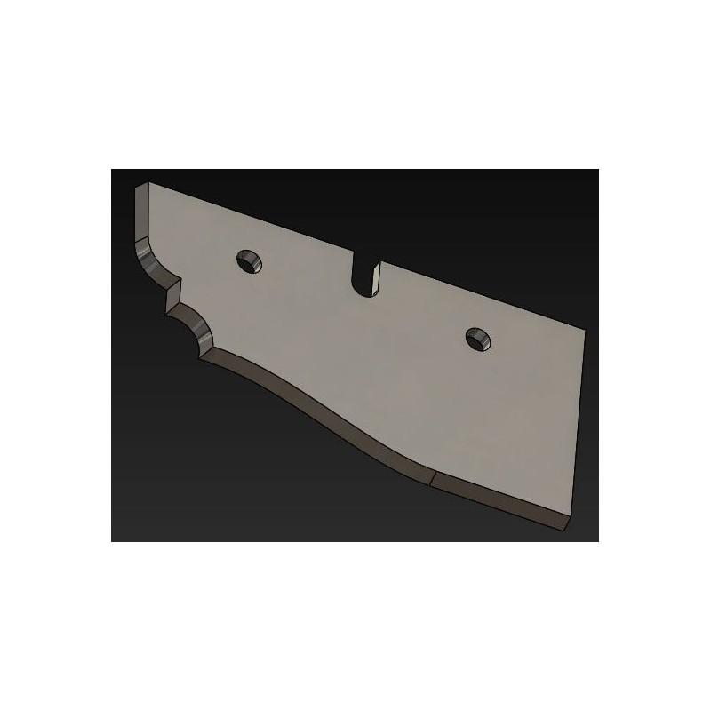 Cuchilla madera plafon horizontal
