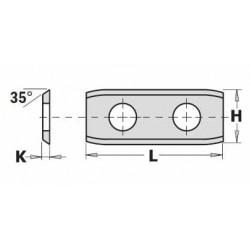 Cuchillas 2 cortes para cabezales helicoidales