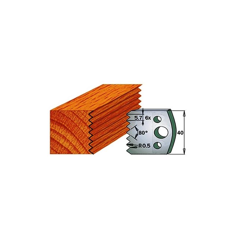 Par de Cuchillas y contracuchillas para madera 690.077