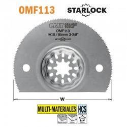 Hoja sierra segmentada 85 mm HCS multimateriales para herramienta multifuncional CMT