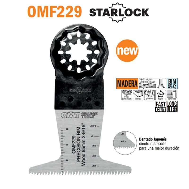 Hoja de sierra de precisión LONG LIFE 65x50mm con diente japonés para madera de herramienta multifuncional