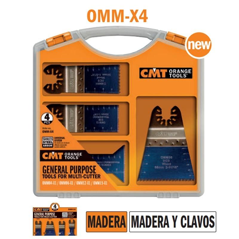 Pack de 4 sierras de precisión para multiherramienta para madera OMM-X4