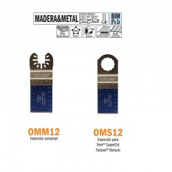 Sierra inmersión y perfiladora madera y metal multiherramienta OMM12