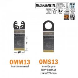 Hoja sierra inmersión y perfiladora de larga duración para madera y metal 32 mm