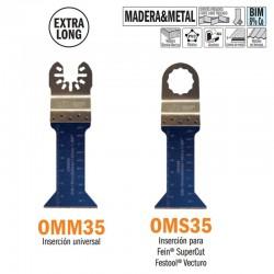 Hoja sierra inmersión y perfiladora multiherramienta extralarga 42mm