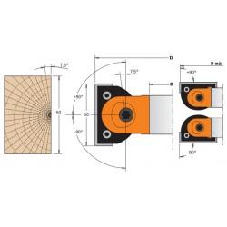 Cabezales para biselar de 0º a 90º con altura de corte de 50 mm esquema