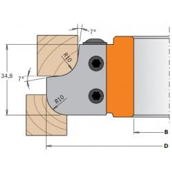 Cuchillas perfiladas para cabezal portacuchillas R10 y R10 695.007.10