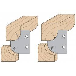 Cuchillas perfiladas para cabezal portacuchillas R12-12 y R15-15 695.007.12 y 15