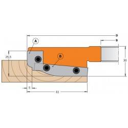 Portacuchillas para realizar plafones con cuchillas md  integral 694.013