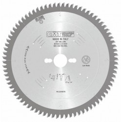 Sierra circular industrial para materiales no ferrosos y plásticos con ángulo -6º