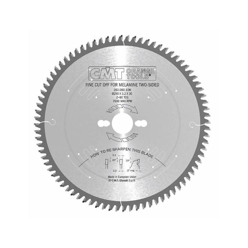 Sierras de corte para corte de precisión en melamina con diente alterno de 40º
