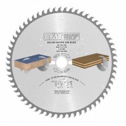 Sierra circular para seccionar tableros melaminicos revestidos de termoplásticos