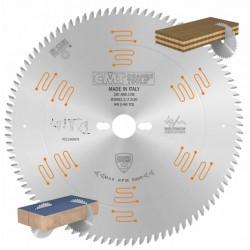 sierra de disco para corte de melamina cromada y silenciosa con dientes trapezoidales