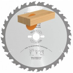 Sierra de disco para madera a favor de veta diente alterno